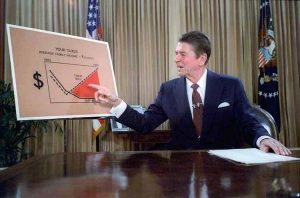 Ronald Reagan televised address from the Oval Office outlining plan for Tax Reduction Legislation July 1981